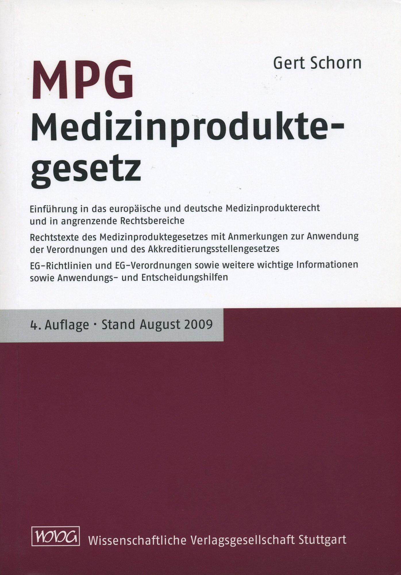 MPG-Medizinproduktegesetz-Gert-Schorn