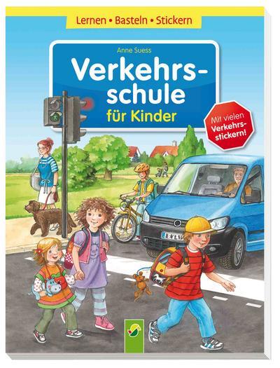 Verkehrsschule für Kinder Lernen – Basteln – Stickern