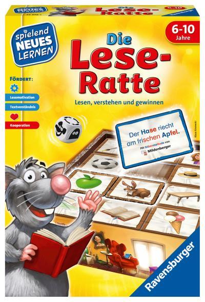 Ravensburger 24956Die Lese-Ratte Lernspiel - Ravensburger Spielverlag - Spielzeug, Deutsch, , Lesen, verstehen und gewinnen, Lesen, verstehen und gewinnen