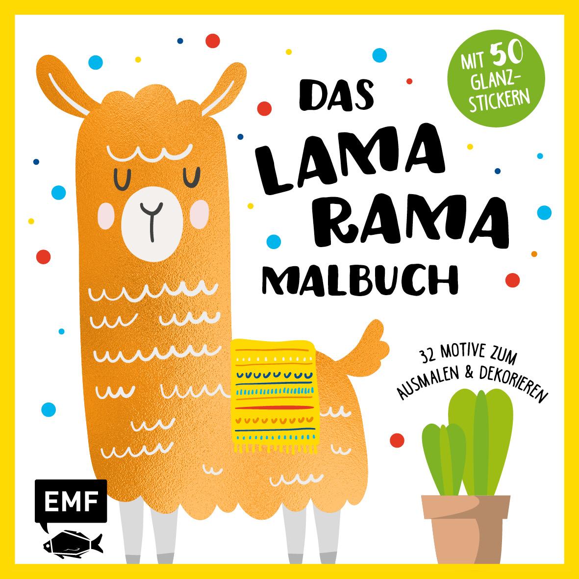 Malbücher für Kinder NEU Das Lama-Rama-Malbuch  931041 Bastel- & Kreativ-Bedarf für Kinder
