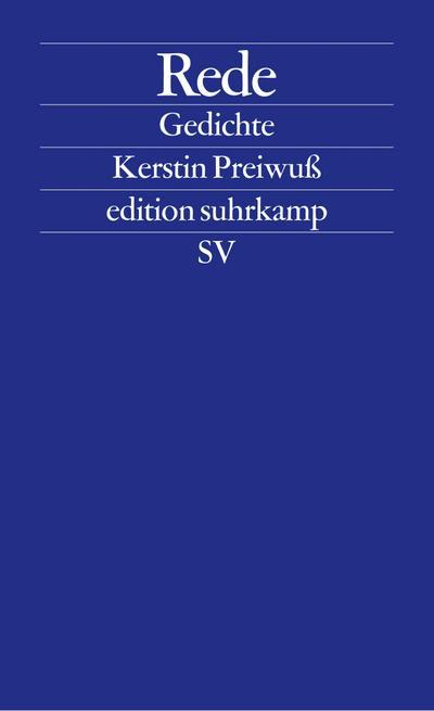 Rede: Gedichte (edition suhrkamp)