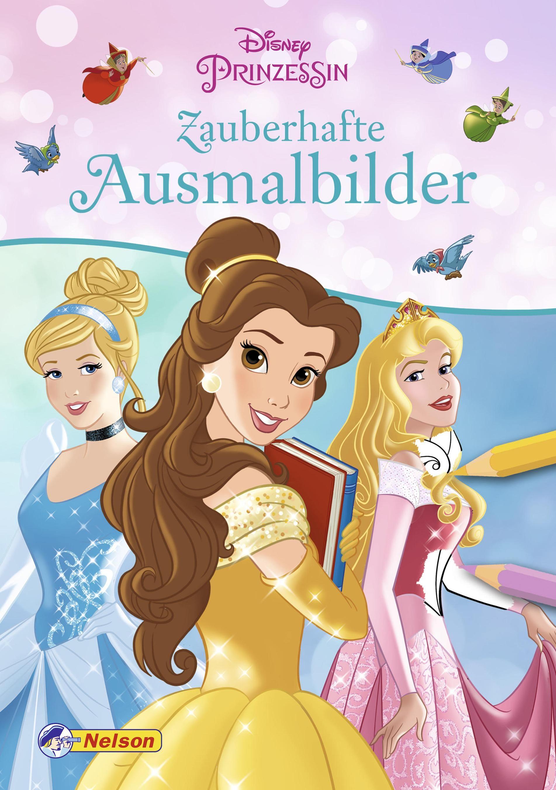 Disney Prinzessin Ausmalbilder : Disney Prinzessin Zauberhafte Ausmalbilder 9783845108292 Ebay
