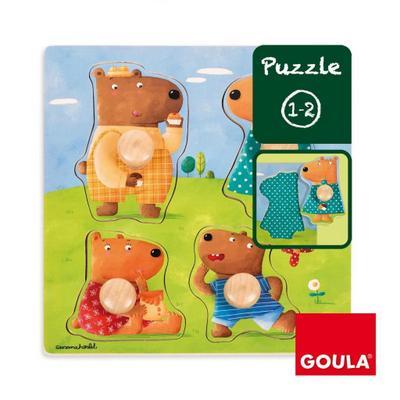 Jumbo Spiele Goula D53119 - Holzpuzzle Bärenfamilie - Jumbo Spiele - Spielzeug, Niederländisch| Englisch| Französisch| Deutsch| Italienisch| Portugiesisch| Spanisch, , ,