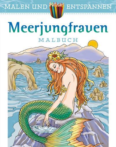 Malen und entspannen: Meerjungfrauen