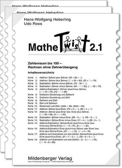 Mathetwist. Rechnen - Spannen - Kontrollieren: Mathetwist, Tl.2, Arbeitskartenprogramme, 3 Tle. - Mildenberger Verlag Gmbh - Sondereinband, Deutsch, Wolfgang Heberling, Udo Roos, ,