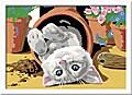 Freches Kätzchen. Malen nach Zahlen Serie D