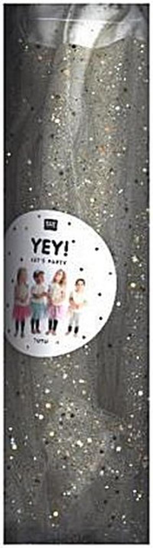 Kindertüllrock Tüllrock mit Glitzer in verschiedenen Farben in Einheitsgröße für Fasching Karneval Party Creme Weiß - Rico Design - Spielzeug, Deutsch, , ,