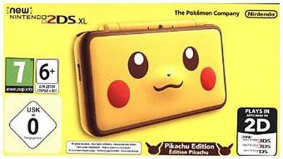 New Nintendo 2DS XL Pikachu Edition, 1 Konsole + Nintendo 3DS-Spiel