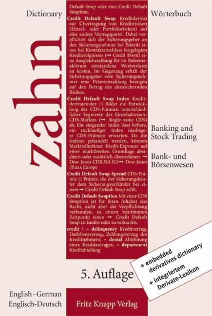 Worterbuch-fur-das-Bank-und-Borsenwesen-II-Englisch-Deutsch-Hans-E-Zahn