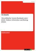 Das politische System Russlands unter Jelzin. Stärken, Schwächen und Beitrag Jelzins
