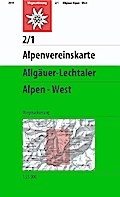 DAV Alpenvereinskarte 02/1 Allgäuer - Lechtaler Alpen - West 1 : 25 000