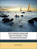 Österreichische Zeitschrift Für Homoeopathie