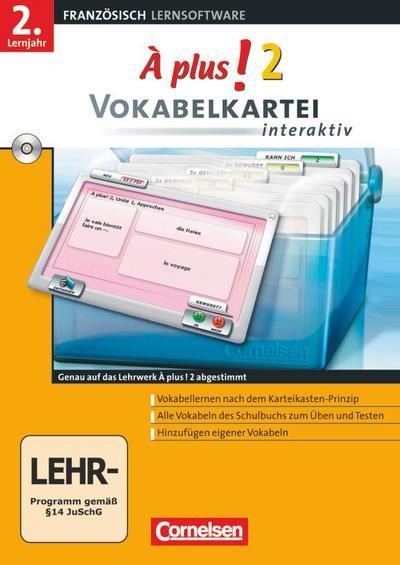 À Plus! Interaktiv - Vokabelkartei interaktiv: Band 2 - CD-ROM - Cornelsen Software - CD-ROM, Französisch, Hans Bächle, Michèle Héloury, ,