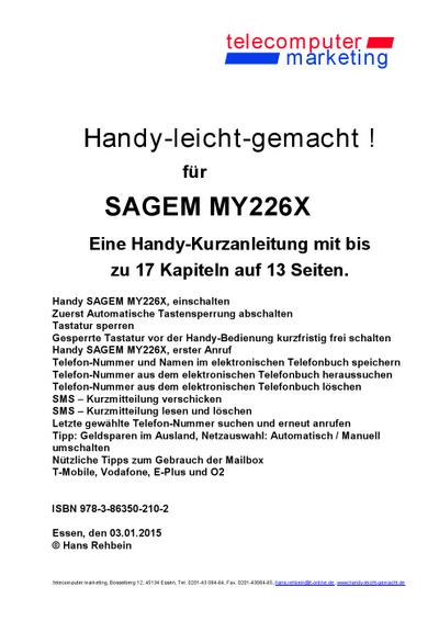 Sagem my226X-leicht-gemacht