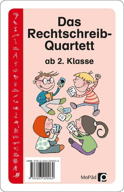 Das Rechtschreib-Quartett: 2. bis 4. Klasse - Persen Verlag In Der AAP Lehrerfachverlage Gmbh - Taschenbuch, Deutsch, Bernd Wehren, 2. bis 4. Klasse, 2. bis 4. Klasse