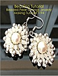 Beading Tutorial: Beaded Pearl Earrings Jewelry Making Tutorial T194
