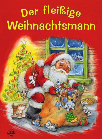 Der fleißige Weihnachtsmann - Panoramabuch mit Gel Glitterlack