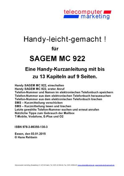 Sagem MC 922-leicht-gemacht