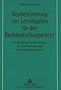 Neubestimmung von Lerninhalten für den Rechts ...