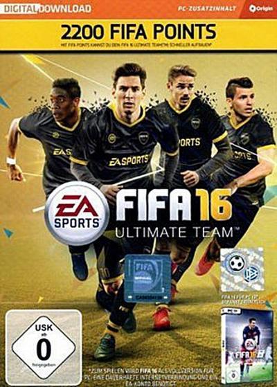 FIFA 16 - 2200 FUT Points (Code in der Box) - Electronic Arts - Computerspiel, Deutsch, , ,