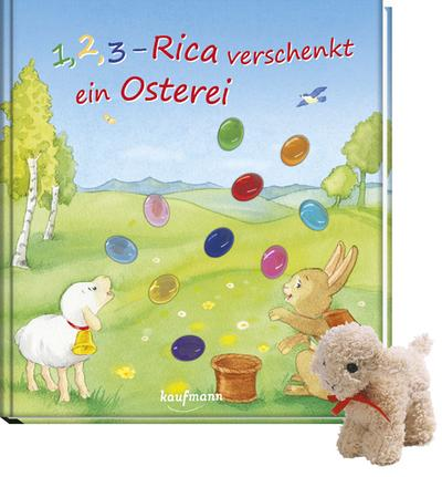 1-2-3-rica-verschenkt-ein-osterei-mit-stoffschaf-funkel-bilderbuch-mit-glitzersteinen
