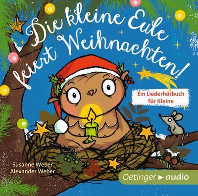 Die kleine Eule feiert Weihnachten (CD)  Ungekürzte Lesung mit Musik, ca. 30 min.  Ill. v. Jacobs, Tanja  Deutsch