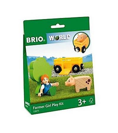 BRIO Spielpäckchen Bäuerin mit Schwein
