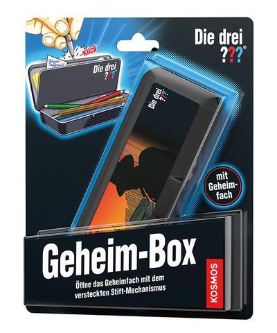 KOSMOS 630942 - Die drei ??? Geheim-Box - KOSMOS - Spielzeug, Deutsch, , Öffne das Geheimfachmit dem versteckten Stift-Mechanismus, Öffne das Geheimfachmit dem versteckten Stift-Mechanismus
