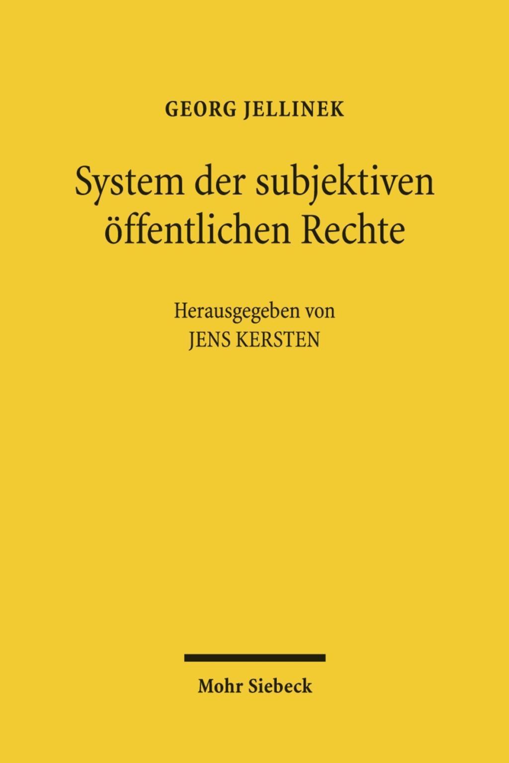 System-der-subjektiven-oeffentlichen-Rechte-Georg-Jellinek