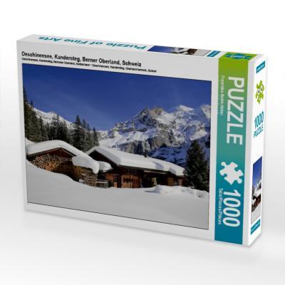 Oeschinensee, Kandersteg, Berner Oberland, Schweiz 1000 Teile Puzzle quer - CALVENDO Verlag Gmbh - Spielzeug, Deutsch, Franziska André-Huber   swissmountainview.ch, ,