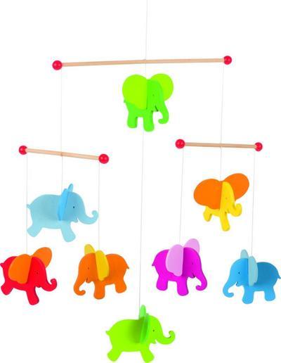 Mobile Elefanten: 40 x 45 cm, Holz, per Stück - Gollnest & Kiesel Gmbh & - Spielzeug, Deutsch, , 40 x 45 cm, Holz, per Stück, 40 x 45 cm, Holz, per Stück