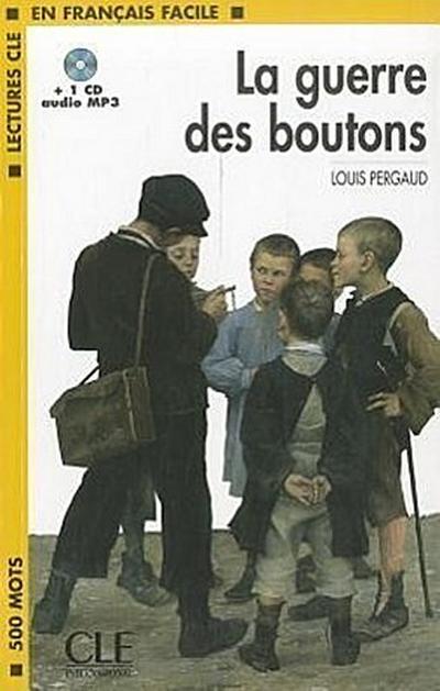 la-guerre-des-boutons-book-mp3-cd-level-1-