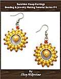 Sunshine Hoop Earrings Beading & Jewelry Making Tutorial Series I74