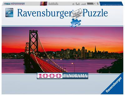Ravensburger 15104 San Francisco, Oakland Bay Bridge bei Nacht - Ravensburger Spielverlag - Spielzeug, Niederländisch| Englisch| Französisch| Deutsch| Italienisch, , Panorama, Panorama
