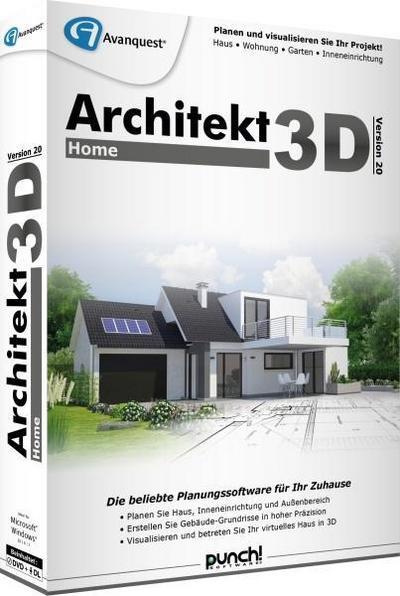 Architekt 3D 20 Home - Avanquest Deutschland - DVD-ROM, Deutsch, , ,