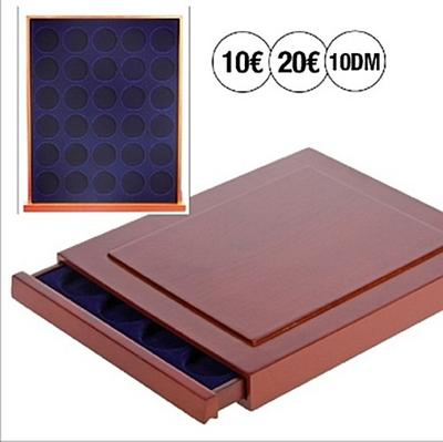 safe-6832-echtholz-munzbox-nova-exquisite-30-x-32-5-mm-mit-runden-fachern-ideal-fur-10-dm-oder-m