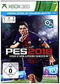 PES 2018, Pro Evolution Soccer, 1 Xbox360-Blu-ray Disc (Premium Edition)