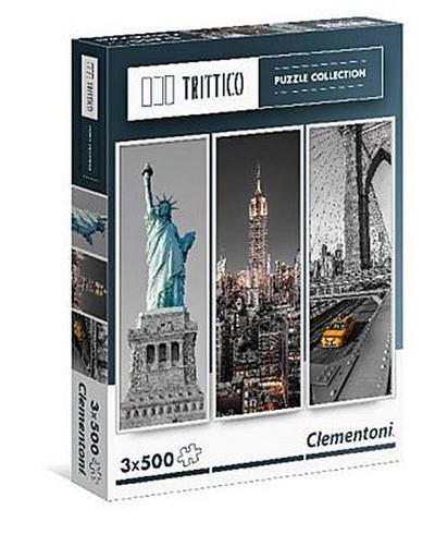 Clementoni 39305.3 - Trittico, 3x500T New York, Klassische Puzzle - Clementoni - Spielzeug, Deutsch  Englisch  Niederländisch  Französisch  Italienisch  Spanisch  Portugiesisch  Polnisch  Dänisch  Norwegisch, , ,
