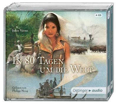 In 80 Tagen um die Welt (NA) (4 CD): Gekürzte Lesung, ca. 255 min