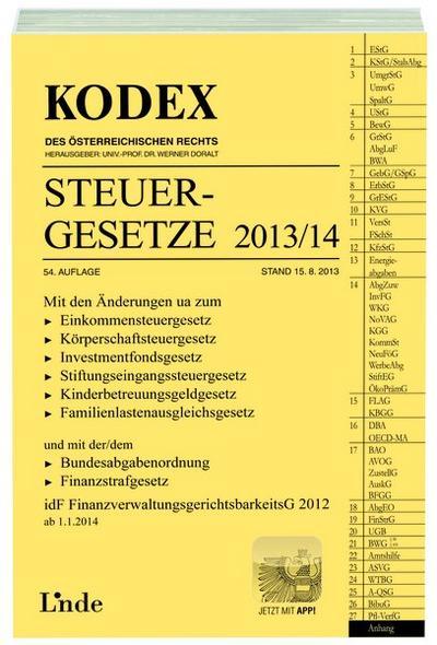 kodex-steuergesetze-2013-14