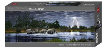 Edition Alexander von Humboldt Herd of Elephants 2000 Teile