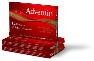 Adventin: Wirkstoff: Schokolade, 24 Einheiten in einem Blister, mit der Weihnachtsgeschichte auf dem Beipackzettel - Edition Chrismon - Geschenkartikel, Deutsch, , 24 Einheiten - Wirkstoff: Schokolade. Inkl. Weihnachtsgeschichte auf dem Beipackzettel, 24 Einheiten - Wirkstoff: Schokolade. Inkl. Weihnachtsgeschichte auf dem Beipackzettel