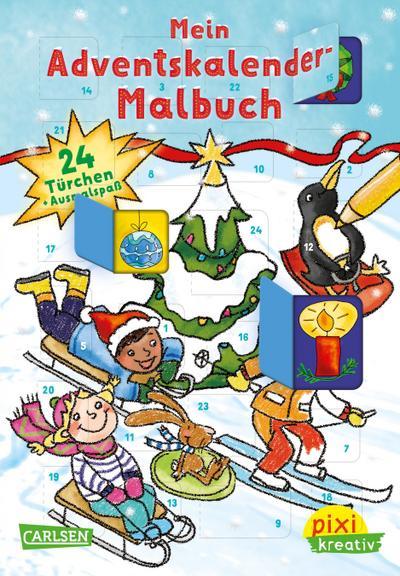 pixi-kreativ-90-mein-adventskalender-malbuch, 3.84 EUR @ regalfrei-de