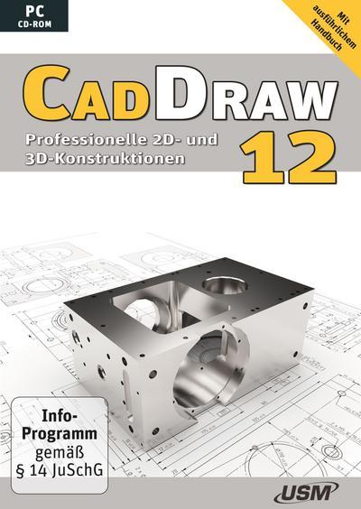 Cad Draw 12: Professionelle 2D- und 3D-Konstruktionen - United Soft Media - CD-ROM, Deutsch, , Professionelle 2D- und 3D-Konstruktionen, Professionelle 2D- und 3D-Konstruktionen