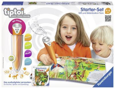 ravensburger-lernspiel-tiptoi-starter-set-mit-stift-und-buch-bilderlexikon-tiere-00508-erforsche