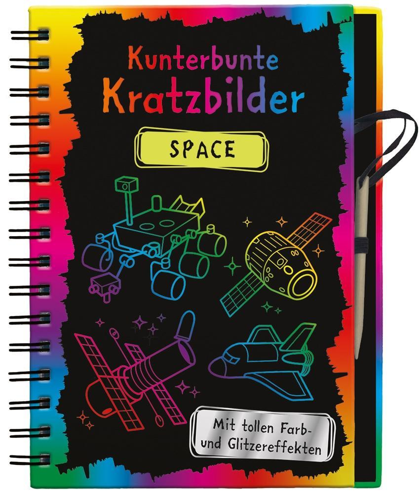 Kunterbunte-Kratzbilder-Space