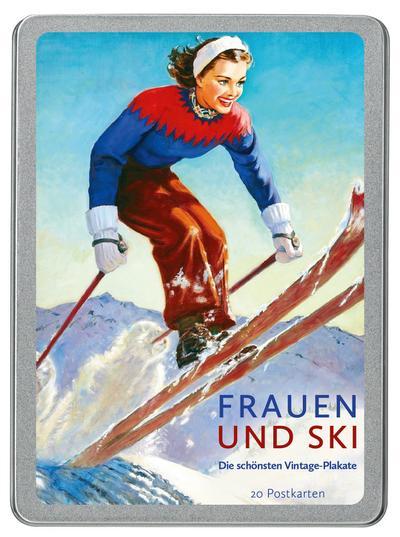 Frauen und Ski: Die schönsten Vintage-Plakate - Sanssouci - Postkartenbuch, Deutsch, , Die schönsten Vintage-Plakate, Die schönsten Vintage-Plakate