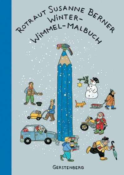 Winter-Wimmel-Malbuch