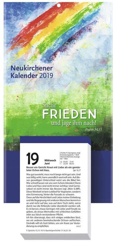 Neukirchener Kalender 2019 - Abreißkalender: Abreißkalender - Block mit 384 Blättern und Rückwand - Neukirchener Kalenderverlag - Kalender, Deutsch, Christel Holl, ,