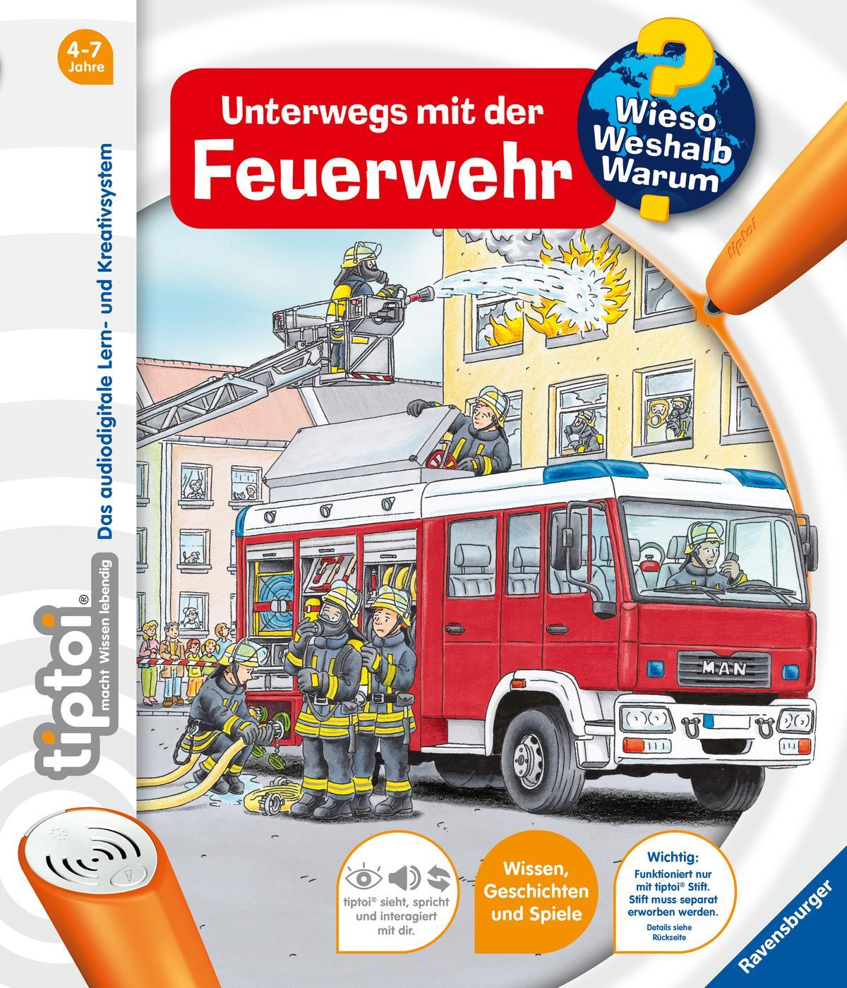 tiptoi® Unterwegs mit der Feuerwehr - Daniela Betz -  9783473329052